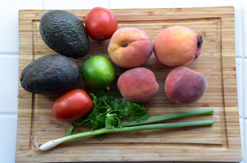 Peach salsa ingredients.JPG